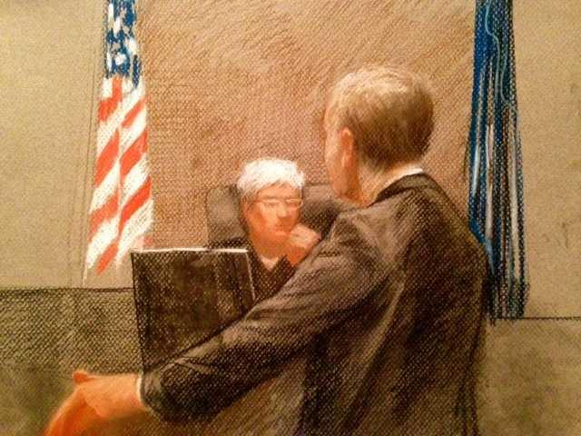 "Federal prosecutor Matthew Coman and U.S. District Court Judge Helen ""Ginger"" Berrigan"