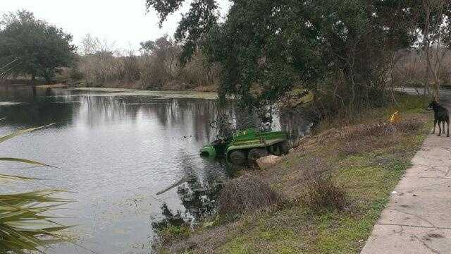 "City Park says vandals broke into the park and totaled stolen utility vehicles by holding a ""demolition derby"" before driving the vehicles into a lagoon."