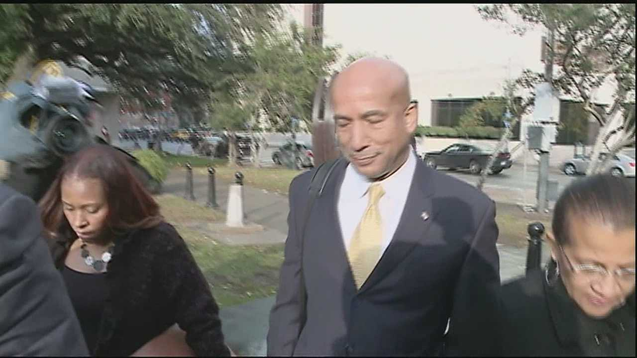 Former New Orleans mayor Ray Nagin Testifies during his federal corruption trial