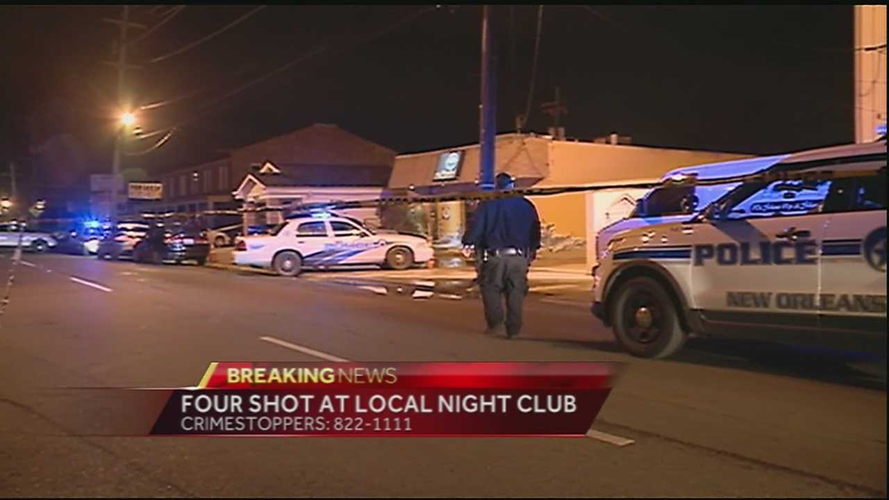 Four people are in the hospital after they were shot at Club H20 just after midnight Friday.