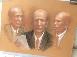 Sketch by Carol PeeblesNagin continues to play down his role in approving contracts for city work as he is cross-examined in his federal corruption trial.He returned to the witness stand Friday and was confronted with documents in which he approved a series of contracts for Three Fold Consultants - owned by a witness who has said he bribed Nagin with more than $60,000.