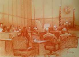 Wednesday, Feb. 5(Sketch by Carol Peebles)Federal prosecutors have rested their corruption case against former New Orleans Mayor Ray Nagin.It is now up to defense lawyers to counter five days of testimony from more than two dozen witnesses, including five who said they were involved in bribing Nagin.The final witness was a financial analyst for the U.S. Attorney's Office who discussed her examination of documents indicating Nagin got $511,000 in money, travel, cellular phone service, granite for his family business and other benefits.Defense lawyer Robert Jenkins has tried to attack the credibility of witnesses testifying under plea agreements. And he has said there is no direct proof indicating Nagin traded benefits for money or services.A New Orleans television reporter testified Wednesday about efforts to obtain Nagin's meeting calendars from 2008.Initially, the reporter received pages with entries blacked out or blank. Then the reporter said that under orders from a judge, he was given a calendar with entries showing numerous meetings at different times with businessmen including Frank Fradella and Rodney Williams.Both men have said they bribed Nagin to get city backing for projects.In cross-examination, Jenkins made the point that the city turned over the calendars, noting there is no evidence that Nagin made the changes.The prior witness, IRS agent Tim Moore was cross-examined by Jenkins. Jenkins stressed a lack of wiretap or other recorded evidence as he questioned witnesses who said Nagin sought and received bribes during his two terms as mayor.Moore testified Tuesday, saying that Nagin failed to report income that the IRS said were bribes.As strange as it might sound, the IRS requires filers to declare money received in bribes.The IRS said that from 2005 to 2008, Nagin used the city's credit card for his own personal gain, spending more than $340,000 on trips, meals and lodging that wasn't work related.Jenkins repeatedly noted the lack of voice or video recordings proving that bribes were paid.