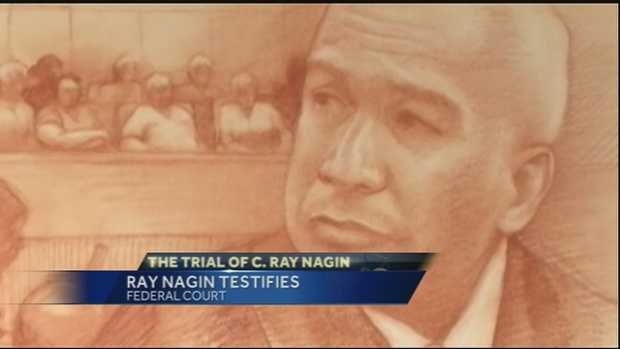 "Friday, Feb. 7(Sketch by Carol Peebles)Former New Orleans Mayor Ray Nagin was back on the stand in his federal corruption trial Friday.After about eight hours on the stand dating back to Thursday, Nagin stated, ""Thank you Jesus"" upon being excused from the stand.Assistant U.S. Attorney Matthew Coman showed evidence Friday of city-paid meals for birthday dinners, Valantine's Day dinners and a meal with the landlord for a Nagin family business.Nagin said he couldn't recall details of the meals. But he said charges were justified because he was often approached at restaurants by people wanting to discuss city business.The case was then recessed until Monday when closing arguments will begin.While on the stand, Nagin continued to play down his role in approving contracts for city work as he is cross-examined in his federal corruption trial.He returned to the witness stand Friday and was confronted with documents in which he approved a series of contracts for Three Fold Consultants - owned by a witness who has said he bribed Nagin with more than $60,000.Prosecutors allege that the former Democratic mayor's corruption included the period after Hurricane Katrina struck in 2005, when contractors sought to benefit from potentially lucrative rebuilding jobs in the devastated city.Nagin said he remembers a 2006 family vacation to New York but has no recollection of who paid for the trip.He acknowledged later seeing documentation that a movie theater owner paid for the trip. He strongly denied allegations from prosecutors that the trip was a payoff for help with the theater's tax problems.Nagin also denied that his efforts to help Home Depot open a store in a blighted New Orleans neighborhood was tied to work the retailer gave to his family-owned granite business.Friday was Nagin's second day on the witness stand, and it has been a long day of cross-examination. The prosecution has confronted him with evidence of phone calls, meetings and checks from people who say they bribed him.Nagin began testifying in his own defense Thursday.On Thursday, the defense called Liberty Bank president and founder Alden McDonald, former city CAO Brenda Hatfield and former director of public works Robert Mendoza to the stand.Nagin's defense attorney Robert Jenkins began asking the former mayor about his family's granite company, Stone Age LLC, Thursday.The prosecution alleges that Nagin's sons took bribes through that company and that Nagin doled out contracts as rewards.As to why Nagin funneled money into the company, Nagin said, ""Like any father, I wanted to help my sons.""Also at question were Nagin's various trips including one to Chicago for a Saints game.Nagin told his attorney that he had trouble finding flights since the airport still wasn't fully operational after Hurricane Katrina so the city's technology director Greg Meffert offered to help him out.""Under the Constitution, it's always the client's decision. We can't stop that. but the point is that we are all in agreement. It's not like I didn't want him to,"" Jenkins said regarding the decision for Nagin to take the stand."