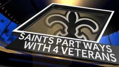 Saints part ways with 4 vets