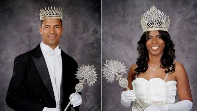 Garren Thomas Mimis. Sr., reigns as King Zulu for 2014, with Georgette Anita Lang-Mims as this year's Queen Zulu.