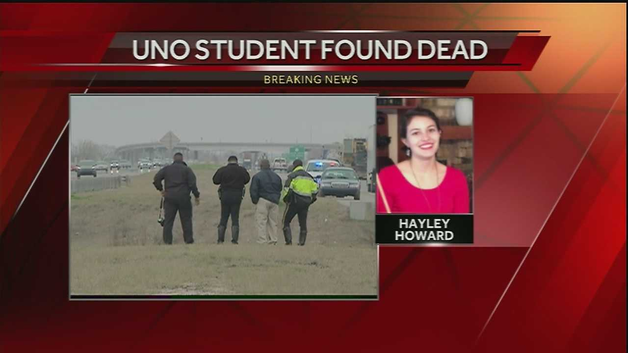 Authorities said the body and vehicle of missing UNO student 19-year-old Hayley Howard were found Wednesday in Irish Bayou.