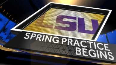 lsu spring football