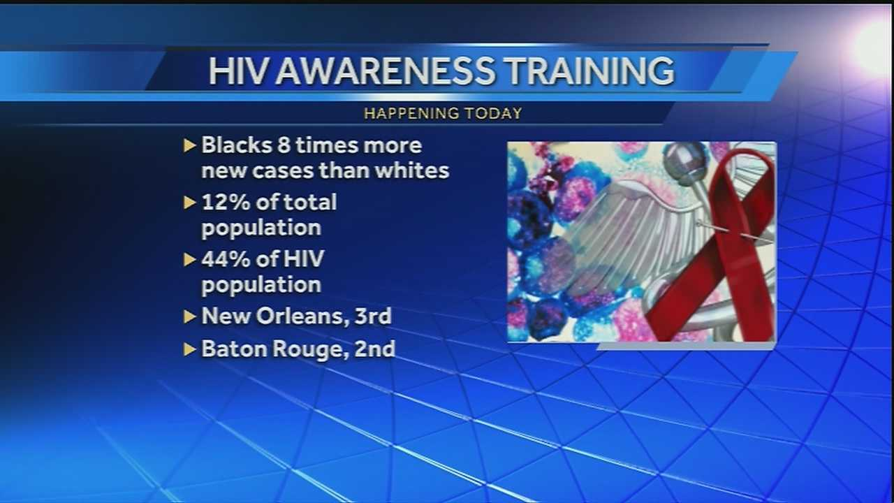 There is an HIV training session happening among local faith-based leaders and the New Orleans branch of the NAACP to try and teach them how to educate congregations about the impact of HIV in African American communities.