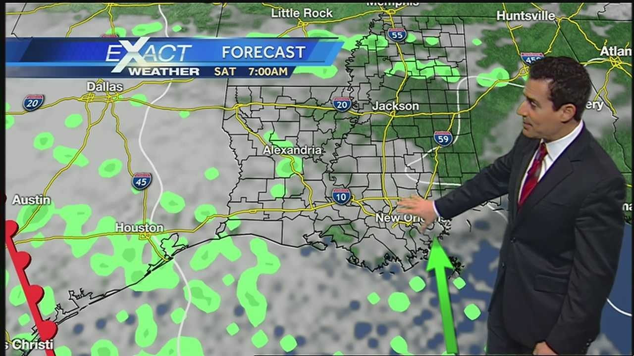 Multiple upper air disturbances will bring showers and storms
