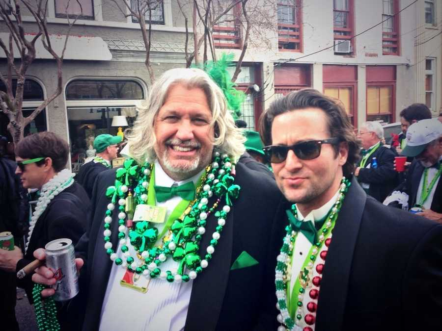 Saints defensive coordinator Rob Ryan was there as well, enjoying the sights and taking part in the parade.