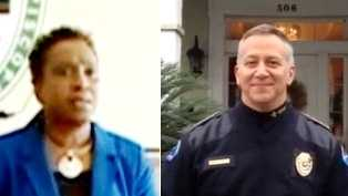 Councilwoman Constance Johnson and Police Chief Scott Silverii of Thibodaux