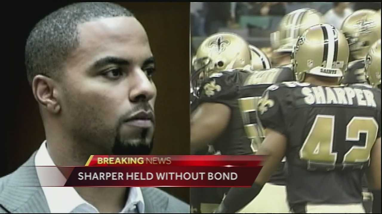 Sharper held without bond in California