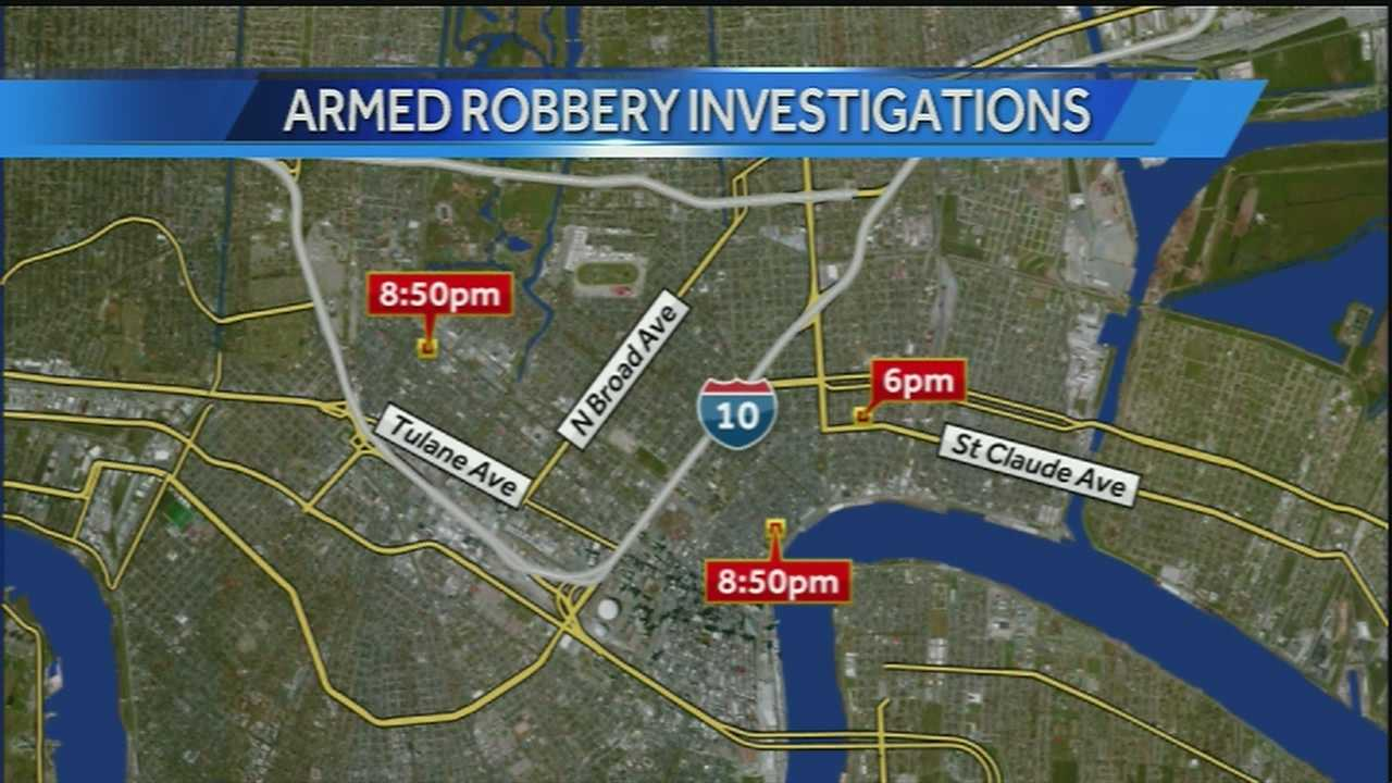 Police investigate 3 separate robberies in metro area