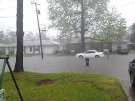 Location: Street Flooding in Slidell
