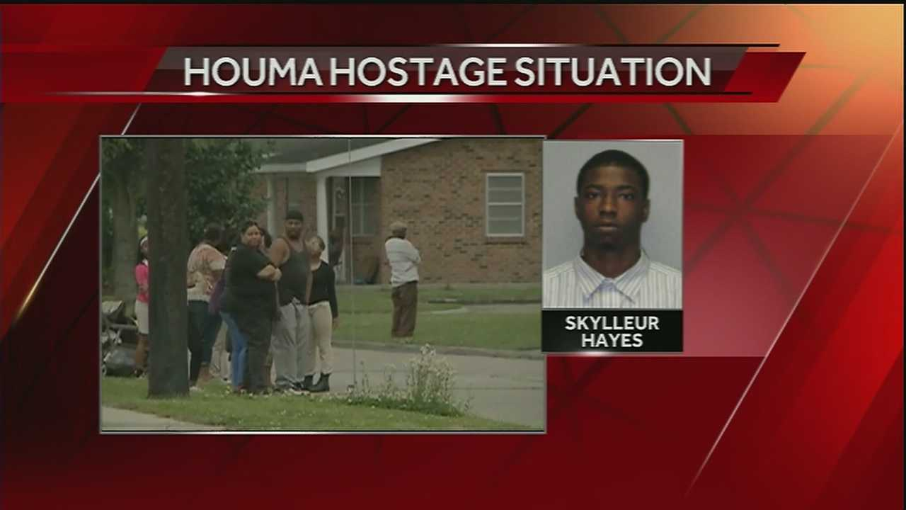 A 22-year-old woman was killed in a hostage standoff in Houma on Friday.