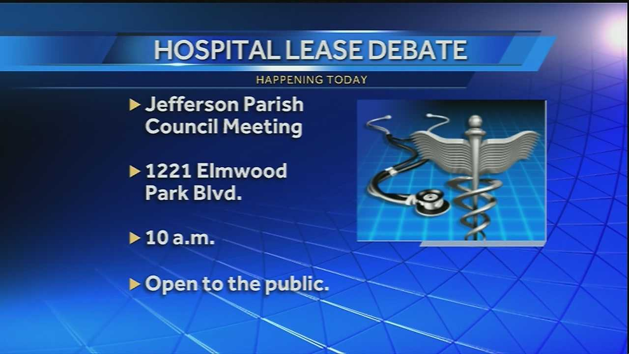 The Jefferson Parish Council will meet Wednesday to discuss who will run West Jefferson Medical Center and East Jefferson General Hospital for the next 30 years.