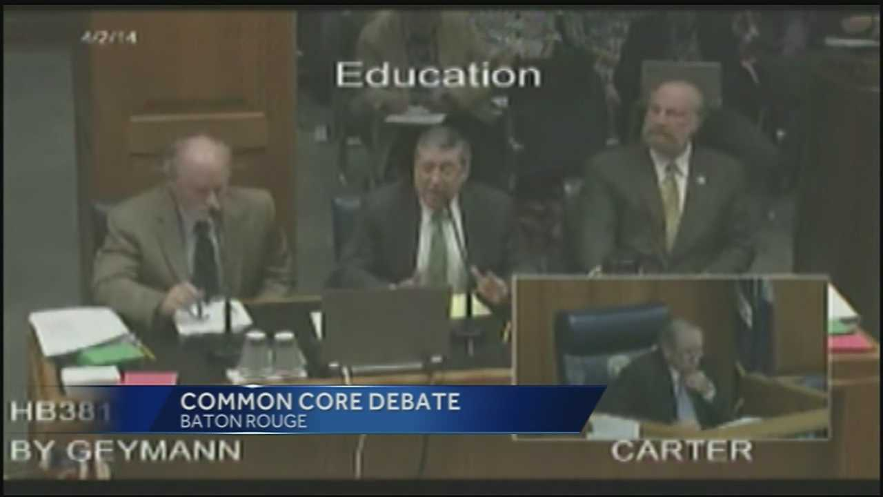 A controversial set of education standards is up for debate in Baton Rouge. Lawmakers are considering dismissing Common Core.