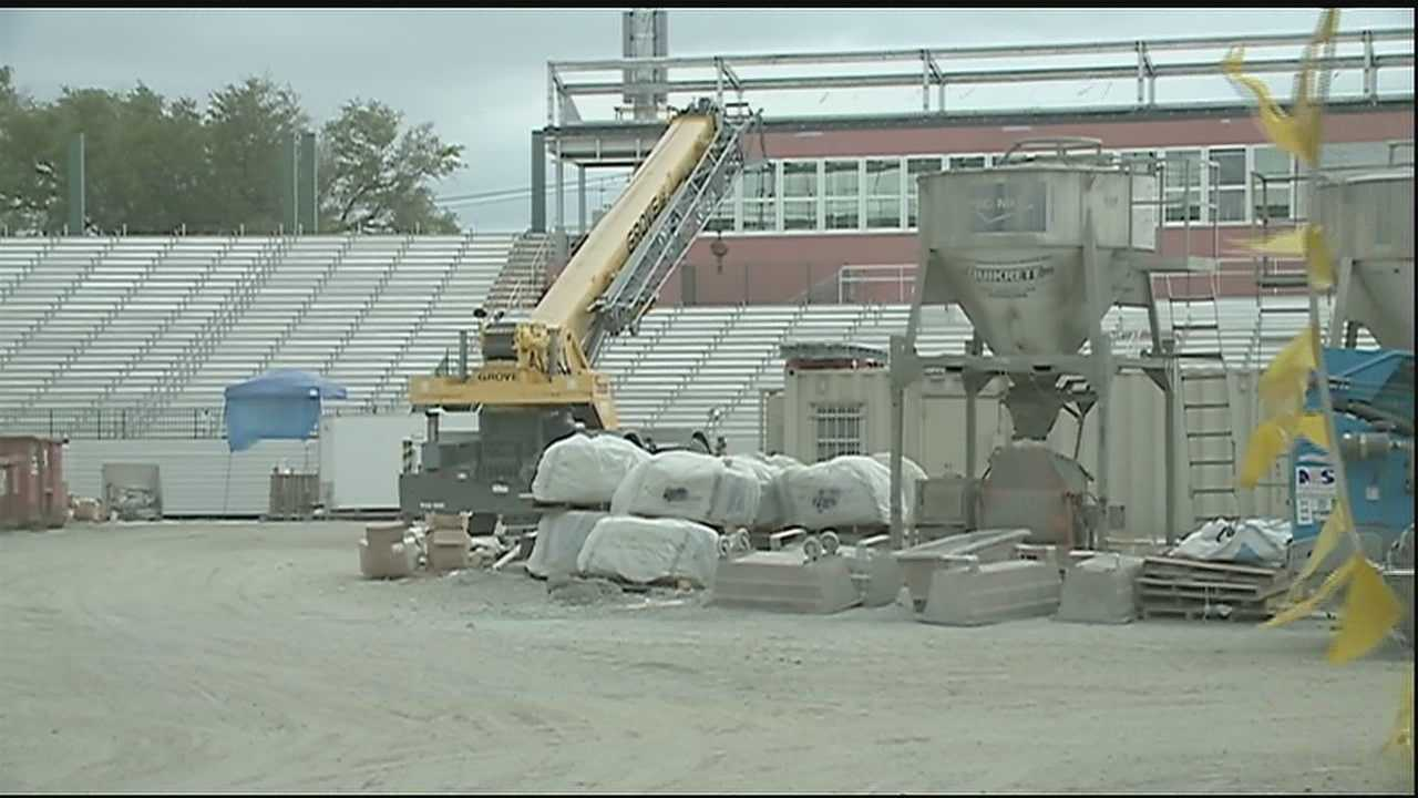 The controversial Tulane Stadium construction is moving along. And on Friday, cameras were allowed to get a first look at  the progress.