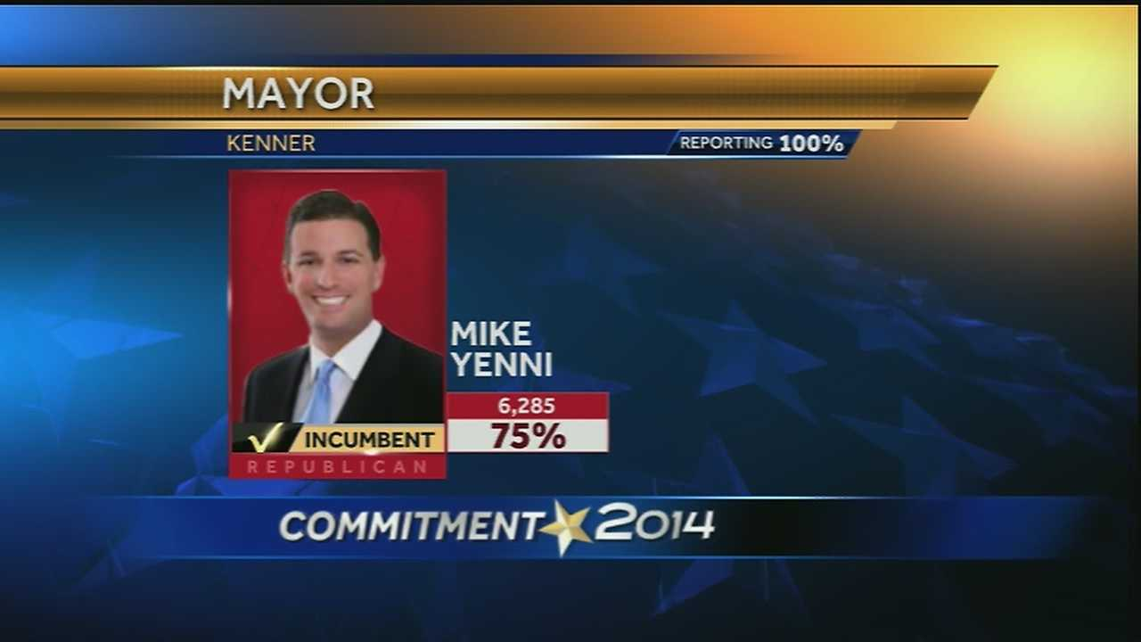 Mike Yenni was re-elected as Kenner mayor in the April 5 election.