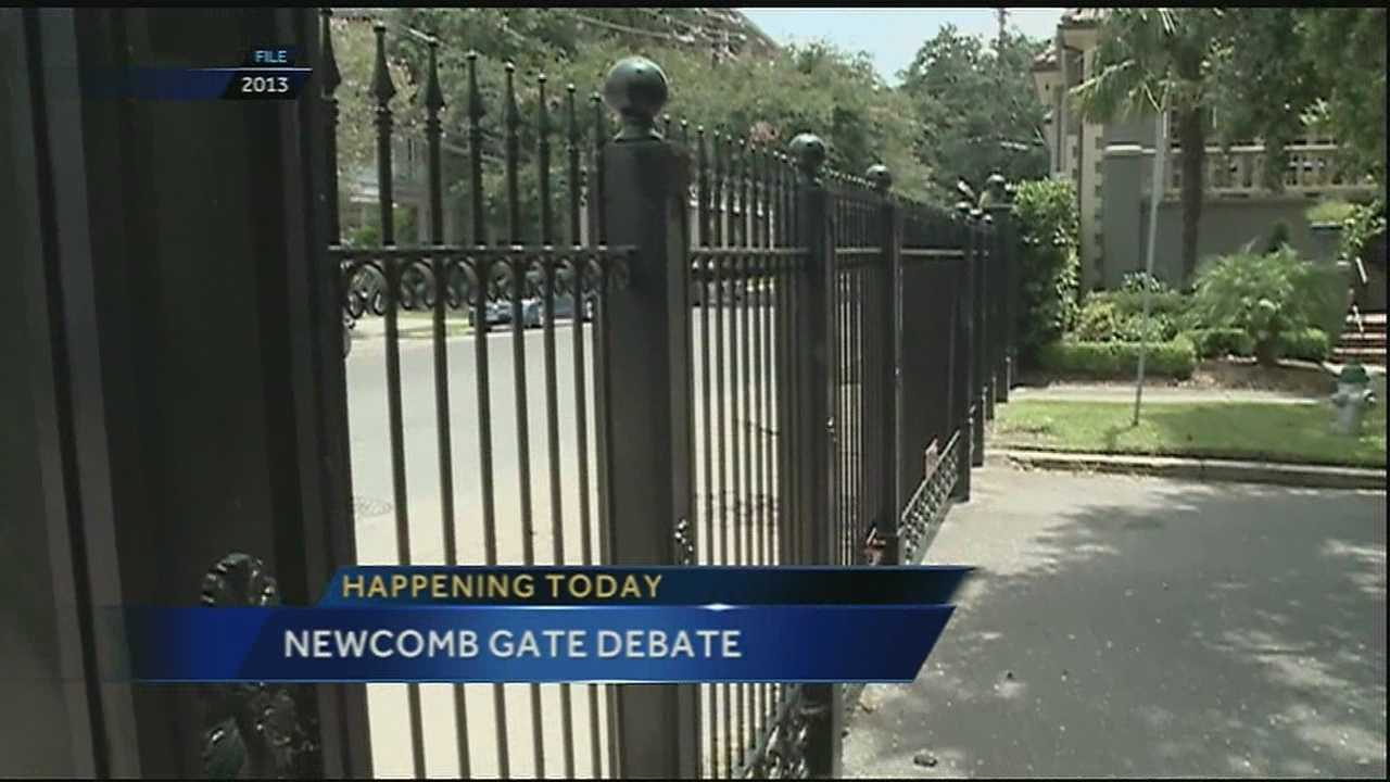 Tuesday a boulevard battle brewing uptown heads to a city committee for consideration. It focuses on a gate that has been in place since 2006 and blocks access to Newcomb Boulevard at Freret Street.