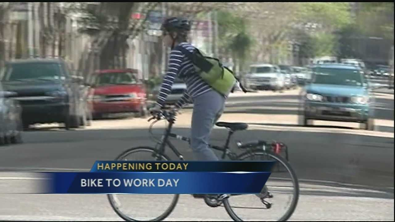 Bicyclists participate in the 3rd Annual Bike to Work Day