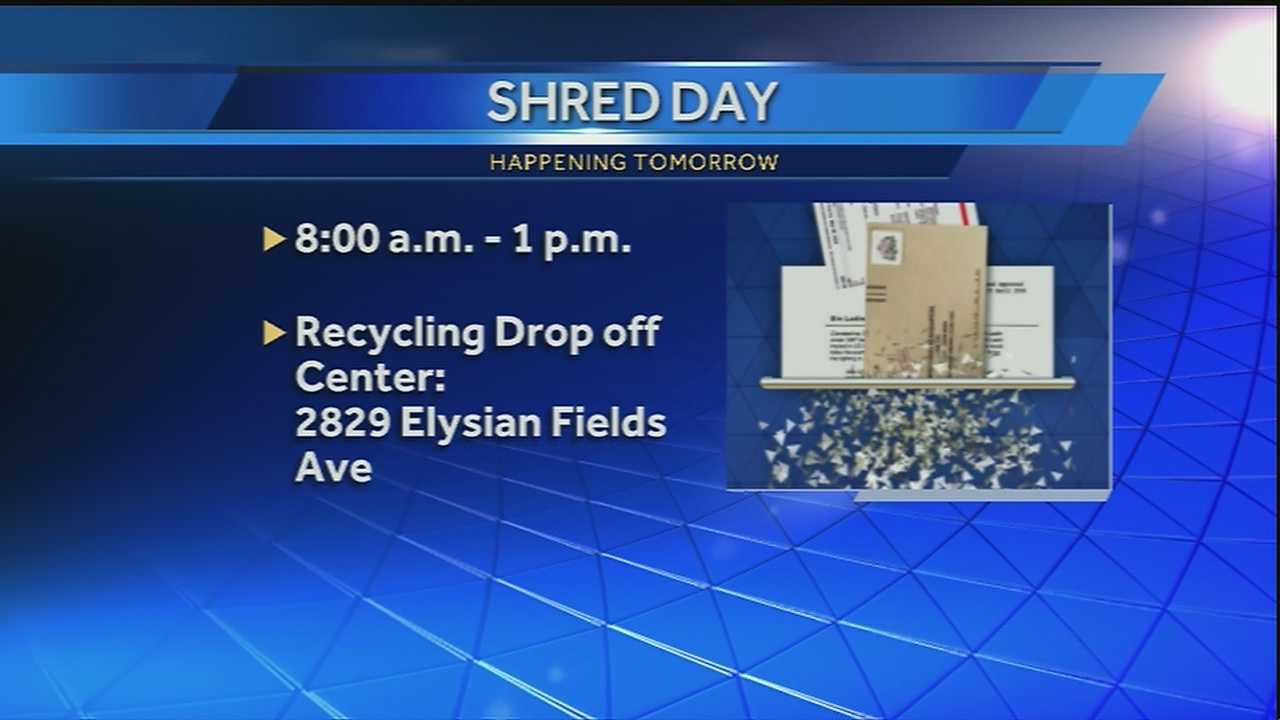 Shred Day is an event to help people get rid of personal and sensitive documents in a safe way.