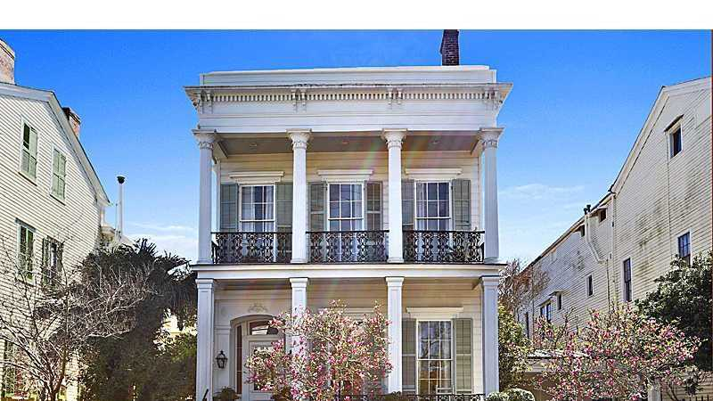 One of the famed Garden District ''Freret Follys'' circa 1861, fully restored for modern living. A home at 2708 Coliseum Street in the Garden District is featured in this week's Mansion Monday. The home is listed at $2,300,000. Contact Gardner Realtors for more information - info@gardnerrealtors.com or by phone: 800-566-7801.