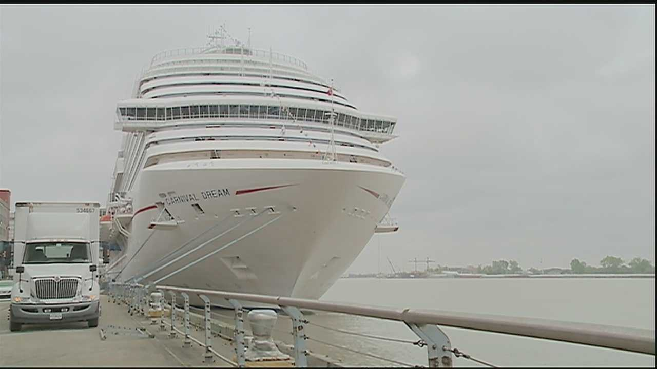 The Carnival Dream is setting out on its first voyage from the Port of New Orleans.