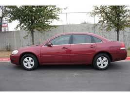 The suspects, who are believed to be driving a red or maroon colored four door, 2006 Chevrolet Impala were captured on the business' surveillance system.
