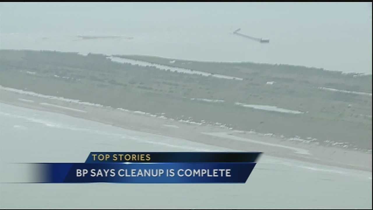 BP: Shore clean-up after Gulf oil spill ends in La