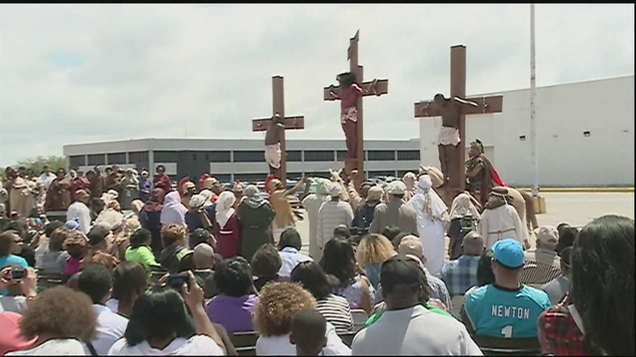 On Good Friday in New Orleans, local Christians remember the crucifixion of Jesus Christ.