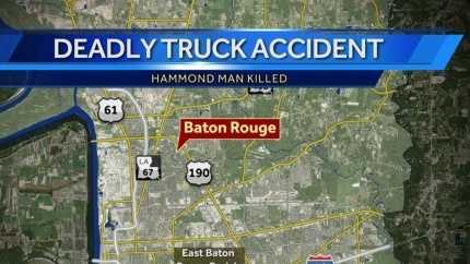 BR truck crash kills Hammond man