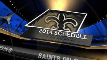 The New Orleans Saints 2014 regular season schedule was released Thursday night. Take a look at the week-by-week schedule in this slideshow.