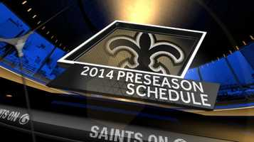 The New Orleans Saints announced the team's preseason schedule April 9. Here is a week-by-week view of the preseason schedule.