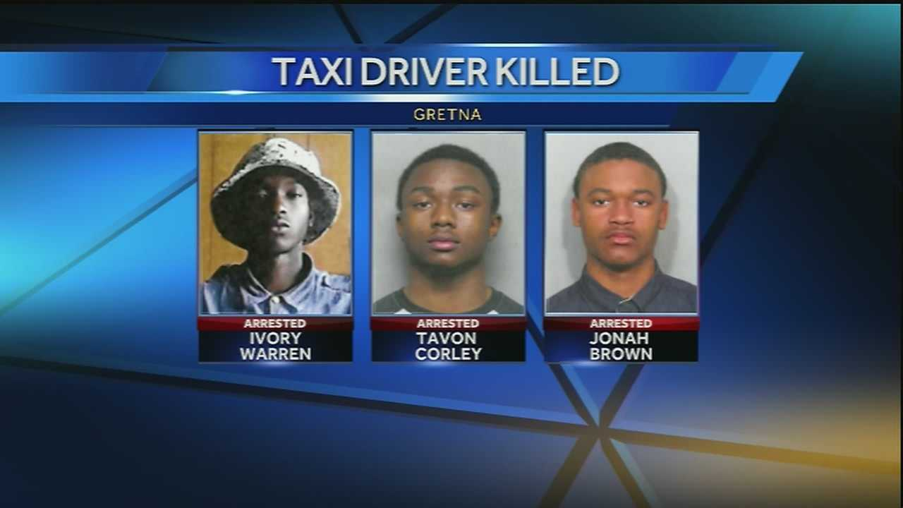 Investigators are working to determine if the three suspects arrested in connection with the killing of a cab driver are linked to other crimes.