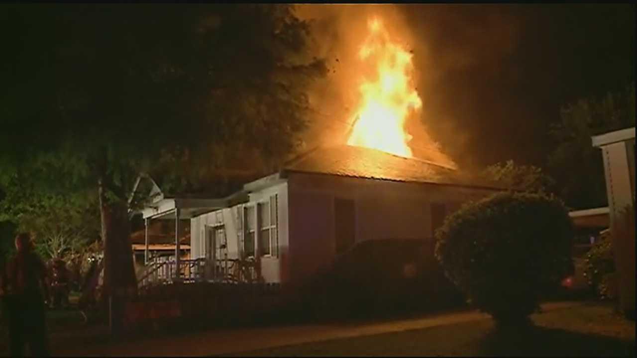 Firefighters battled a 3-alarm blaze in Jefferson Monday morning.