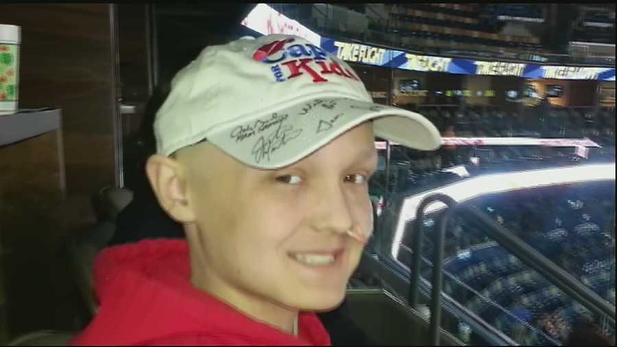 the nonprofit caps kids responsible contacting cast putting cap baseball cancer patients hats with hair for chemo