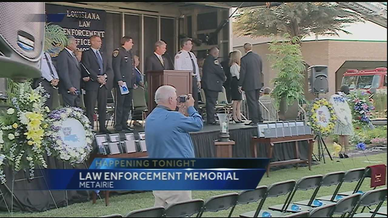 A ceremony will honor then men and women in law enforcement who have given their lives protecting our community.