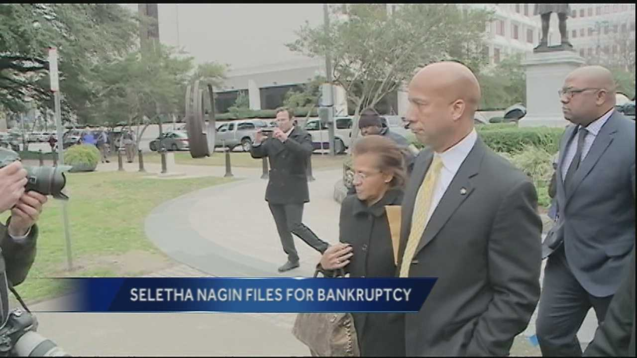 Former Mayor Ray Nagin's wife, Seletha Nagin, filed for bankruptcy in the Eastern District in Texas.