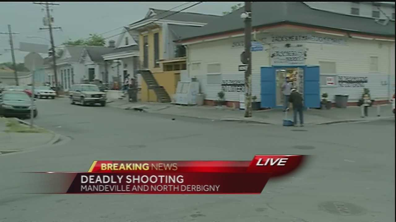 The NOPD is investigating a shooting that left one man dead in the 1700 block of Mandeville Street.