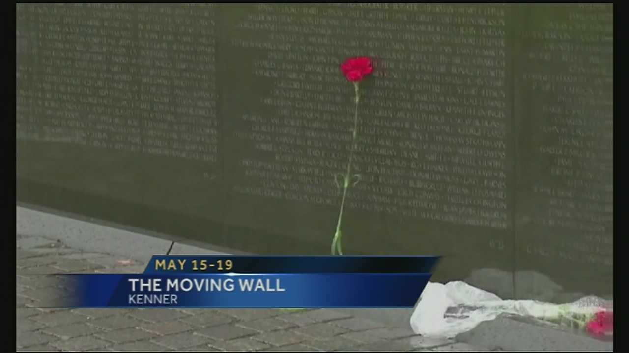 The Moving Wall will be making a stop in Kenner from May 15 through May 19.