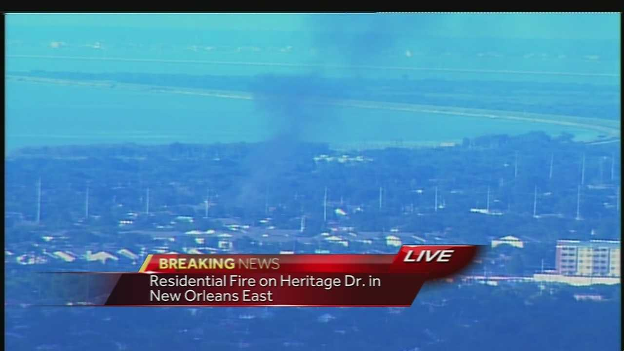 NOFD battle 1-alarm fire in New Orleans East