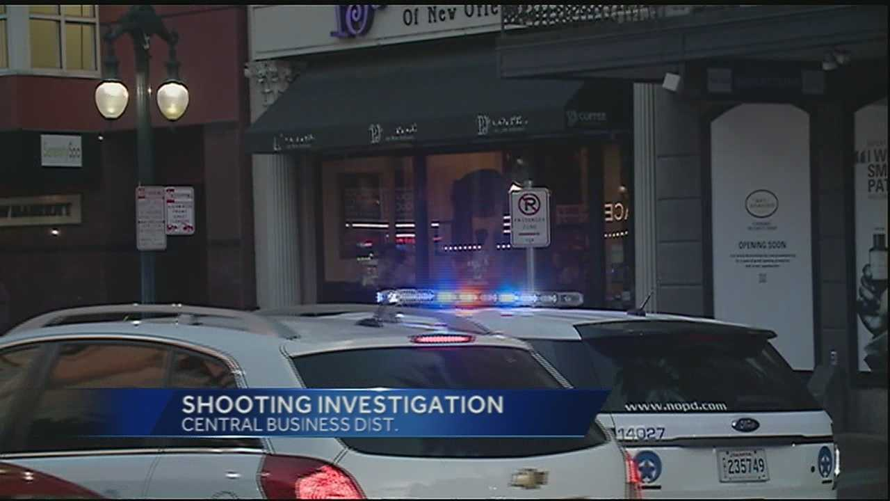 New Orleans police are investigating a shooting in the 600 block of Canal Street.