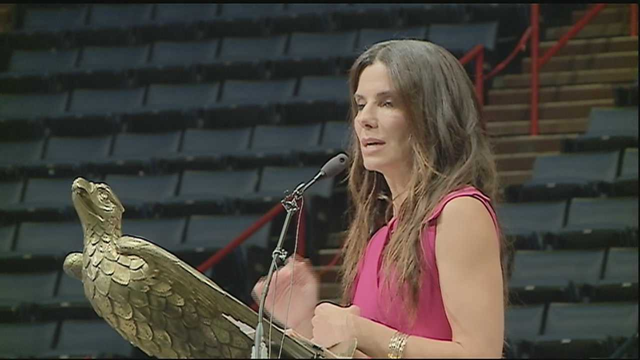 Virtually no one in the UNO Arena had any idea that Bullock, an Academy Award-winning actress, would be on hand to speak to graduating seniors. Her advice: Seek the joy.