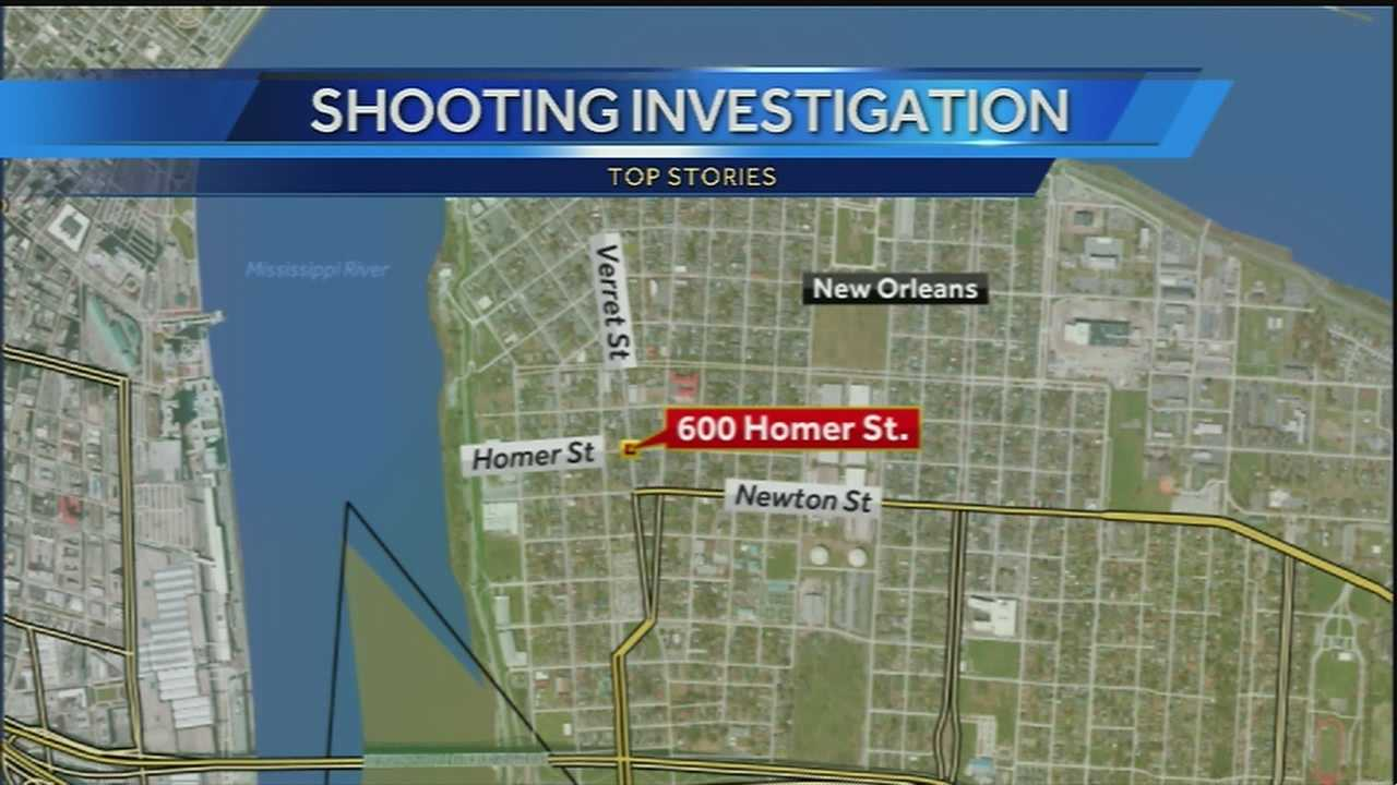 New Orleans police are investigating a shooting in Algiers.