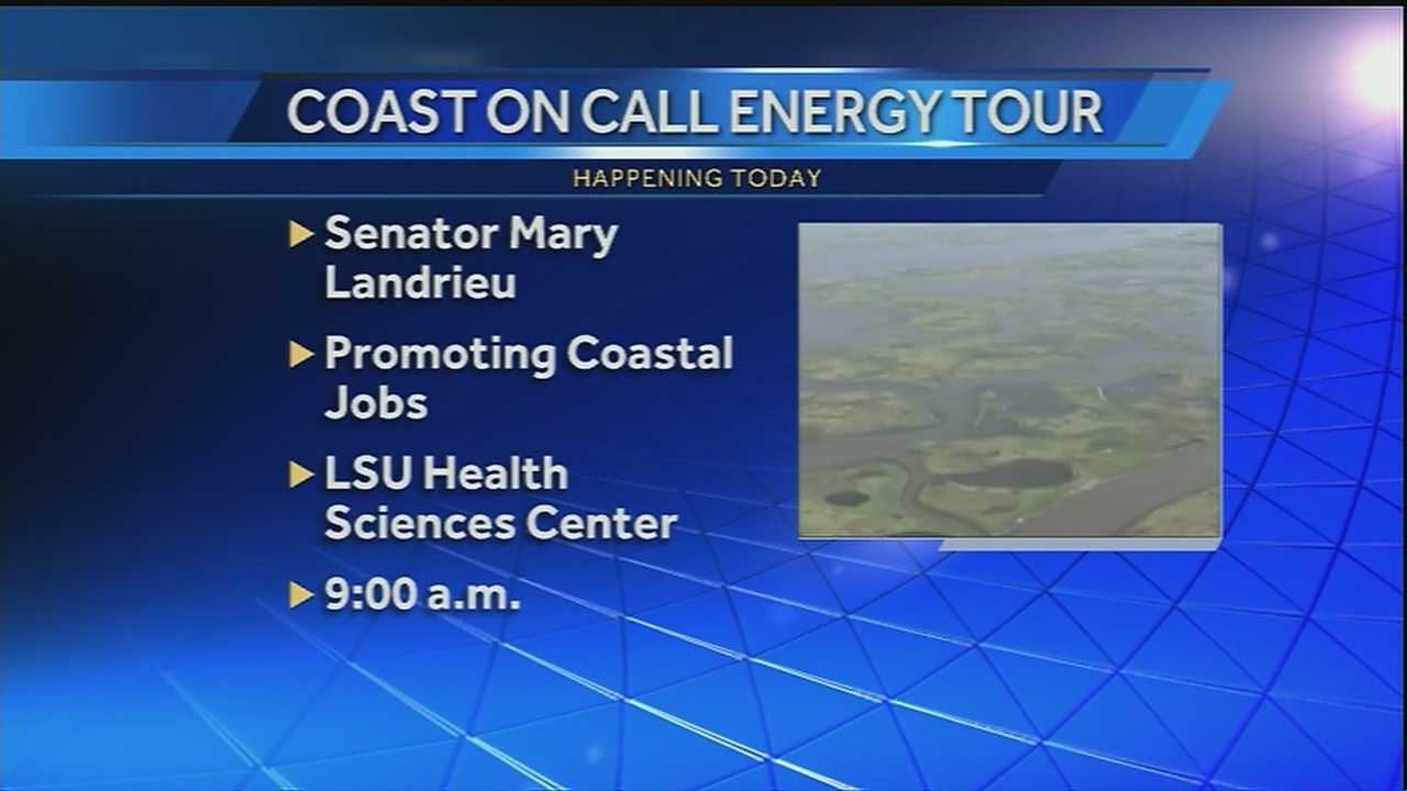 The tour is designed to promote job creation on America's working coast.