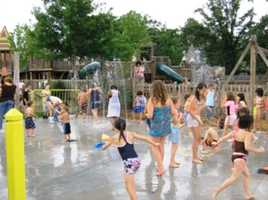 Slidell's Heritage Park-- behind the old train station on Front Street -- is a favorite place for kids to cool off on a hot day.