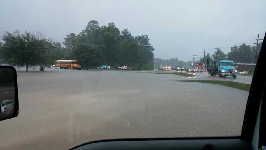 Flooding in Covington on Collins Boulevard.Viewer: Brittany Mathies