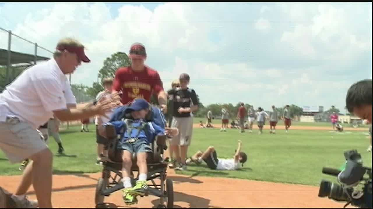 A look at how Children's Hospital is helping special needs children play sports.