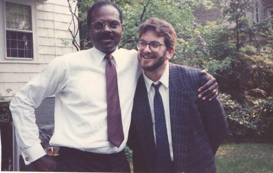 1988: Another photo of Norman at Harvard University for his Nieman Fellowship.